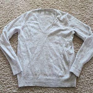 Everlane cashmere vneck sweater frost Donegal